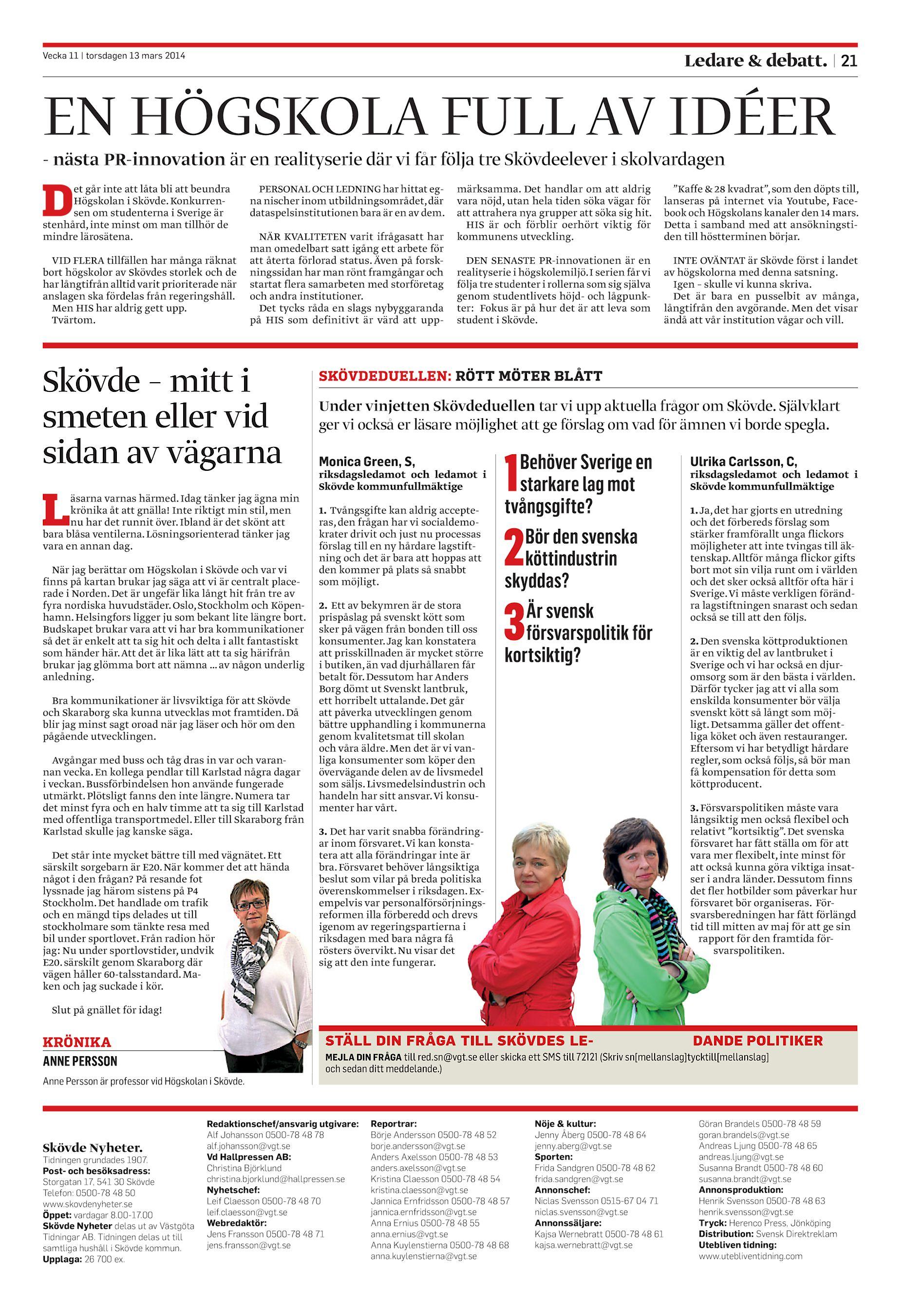 Skövde Nyheter SN-20140313 (endast text) b41c15a9e21ec