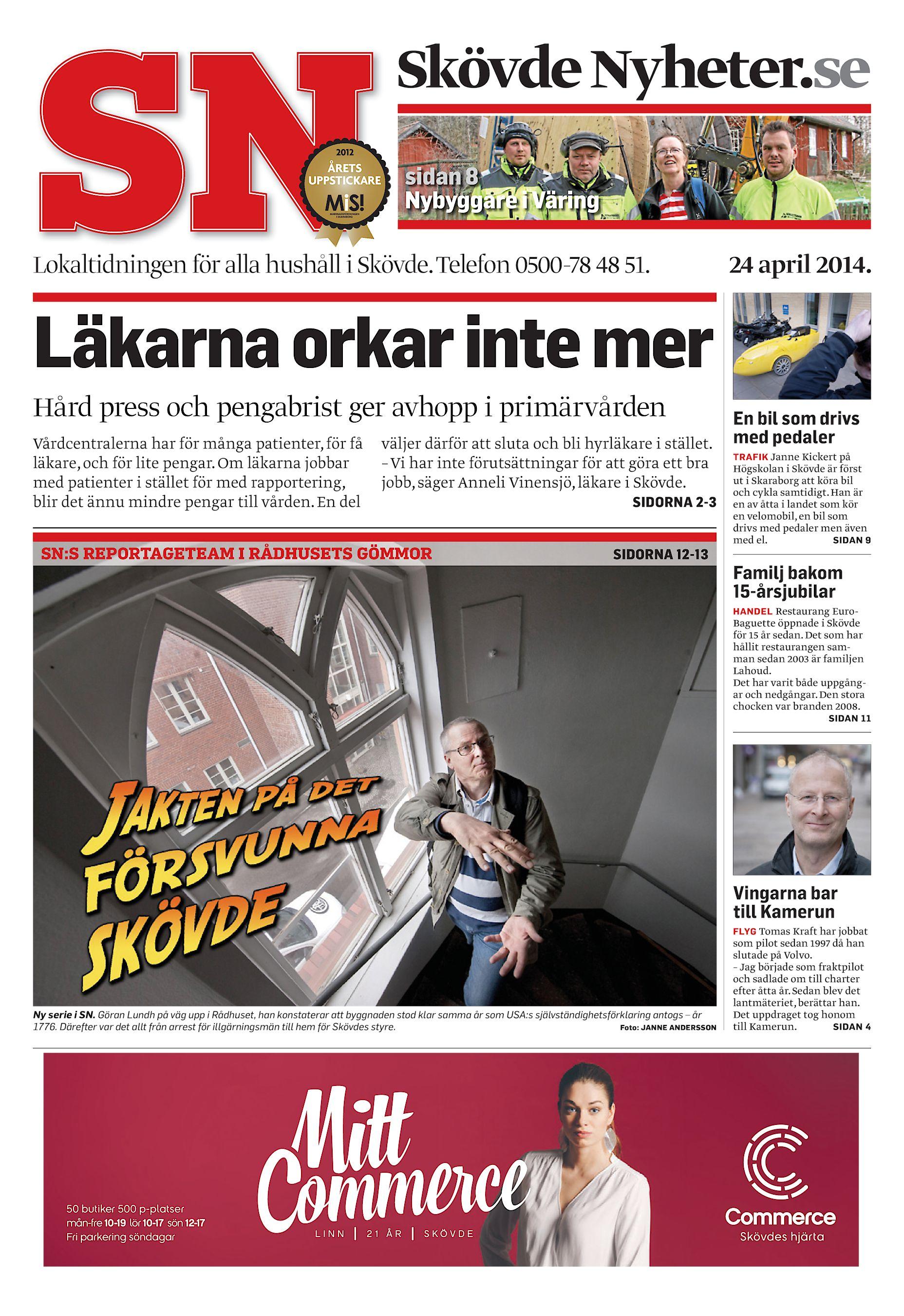 2ec4444f6e0e Skövde Nyheter.se sidan 8 Nybyggare i Väring Lokaltidningen för alla  hushåll i Skövde. Telefon 0500-78 48 51. 24 april 2014. Läkarna orkar inte  mer Hård ...