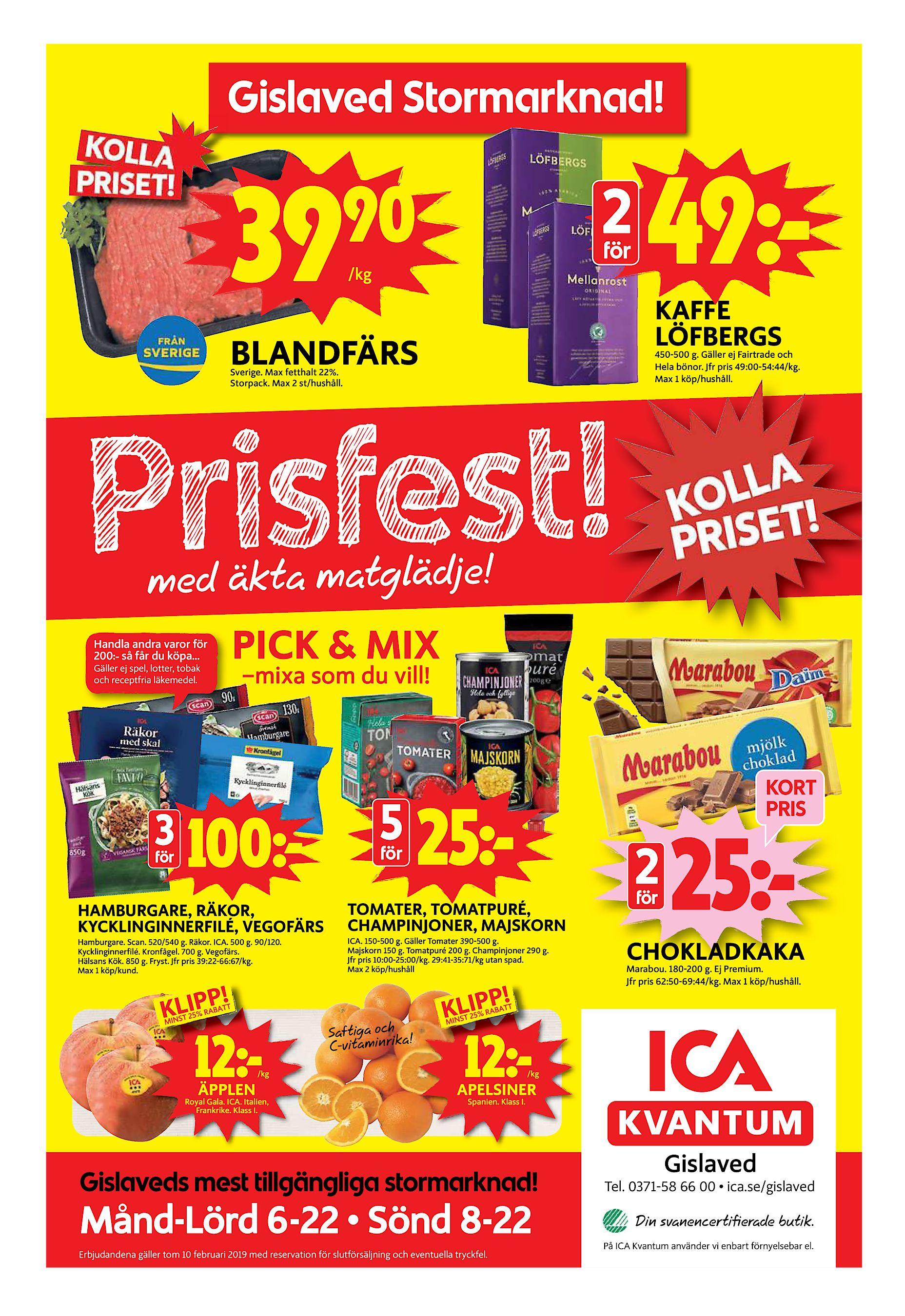 39 90 2 för  kg 49ª KAFFE LÖFBERGS BLANDFÄRS 450-500 g. Gäller ej Fairtrade  och Hela bönor. Jfr pris 49 00-54 44 kg. Max 1 köp hushåll. Sverige. bafa22d85795e