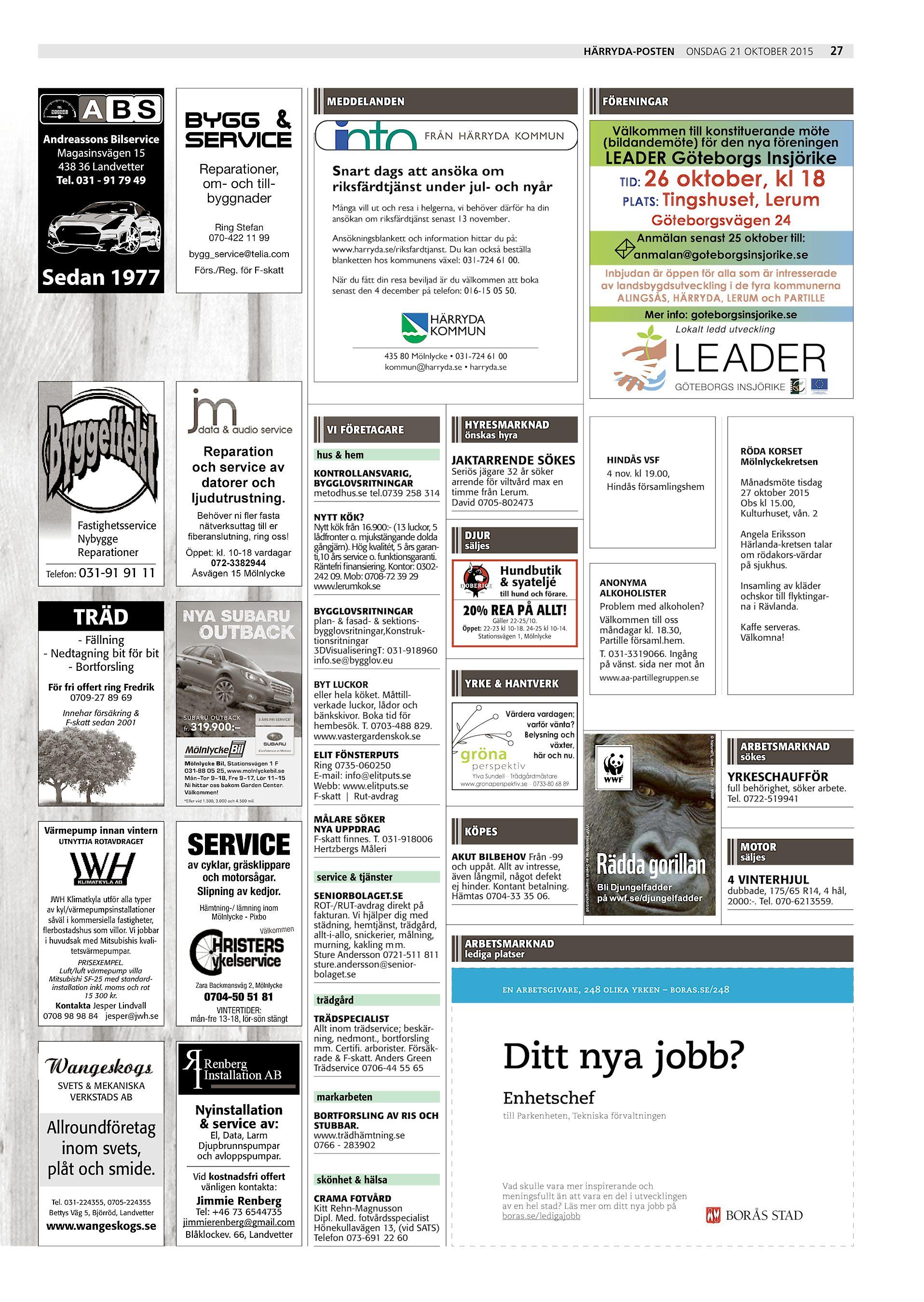 Härrydaposten   Partille Tidning HP-2015-10-21 (endast text) 77973da6a96cc