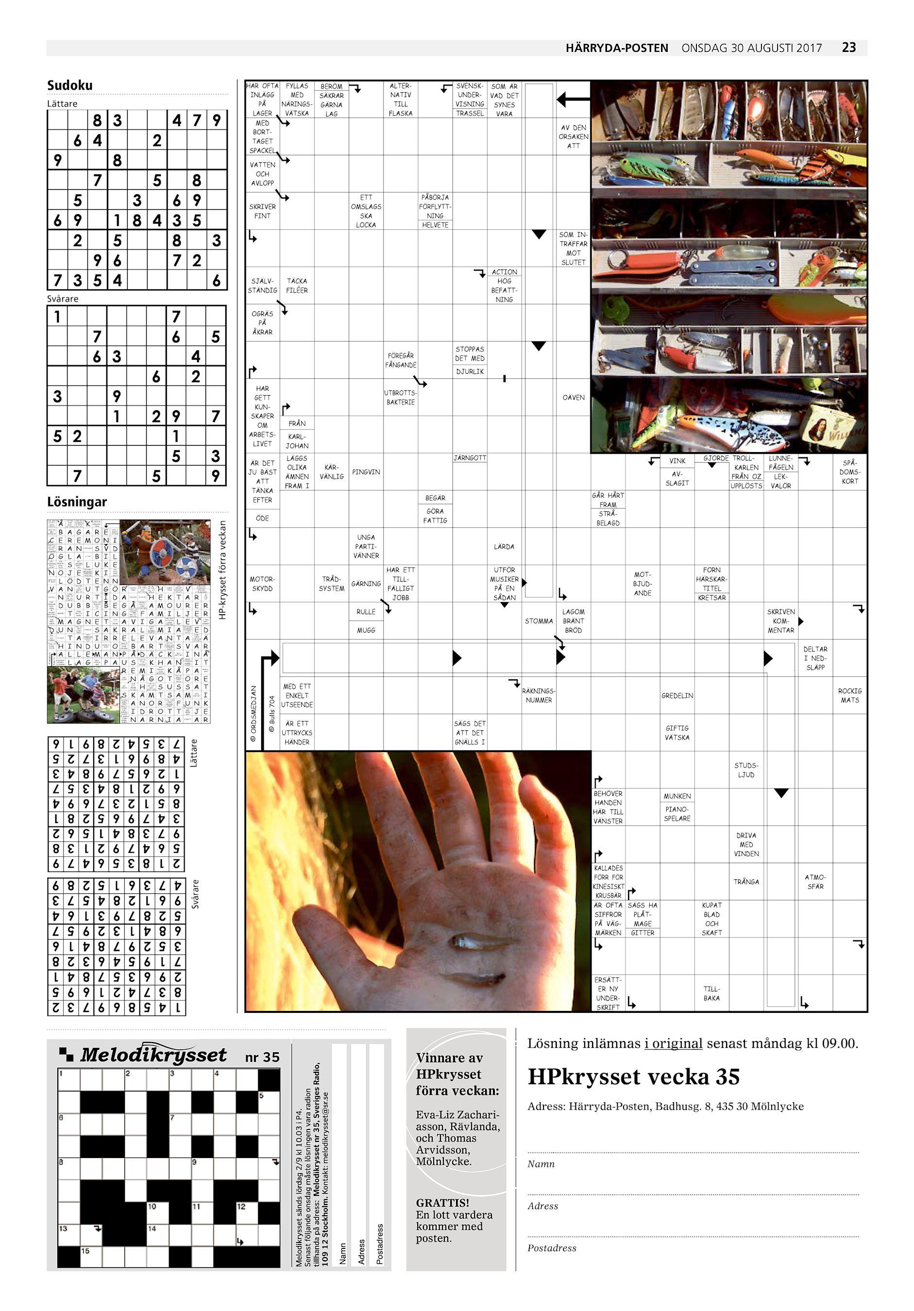 Härryda-Posten Sudoku Lättare 8 3 4 7 9 6 4 2 9 8 7 5 8 5 3 6 9 6 9 1 8 4 3  5 2 5 8 3 9 ... 621619f07df2e