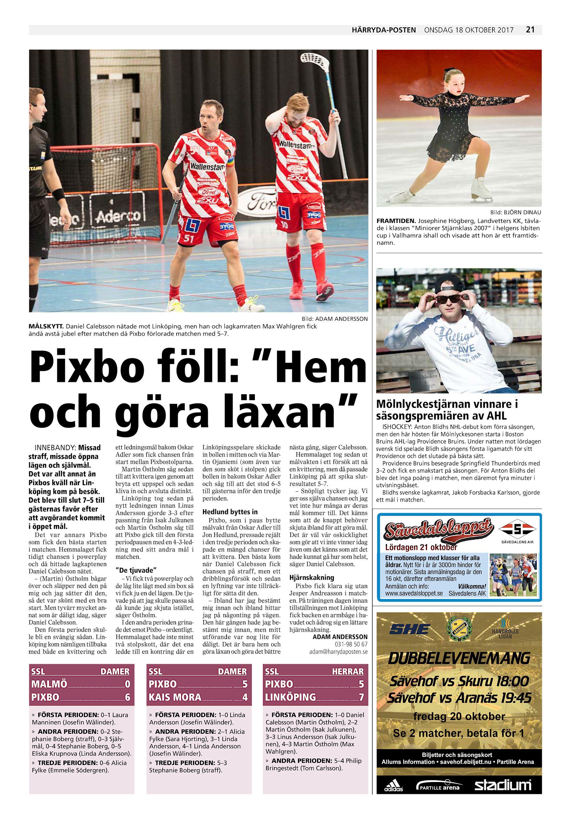 Härryda-Posten onsdag 18 oktober 2017 21 Bild  BJÖRN DINAU FRAMTIDEN.  Josephine Högberg ace972e0aca71