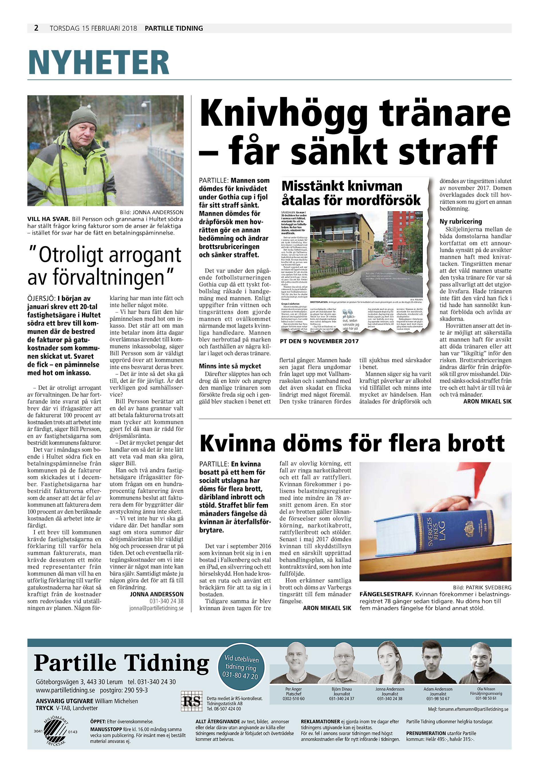 Härrydaposten / Partille Tidning PT-2018-02-15 (endast text)