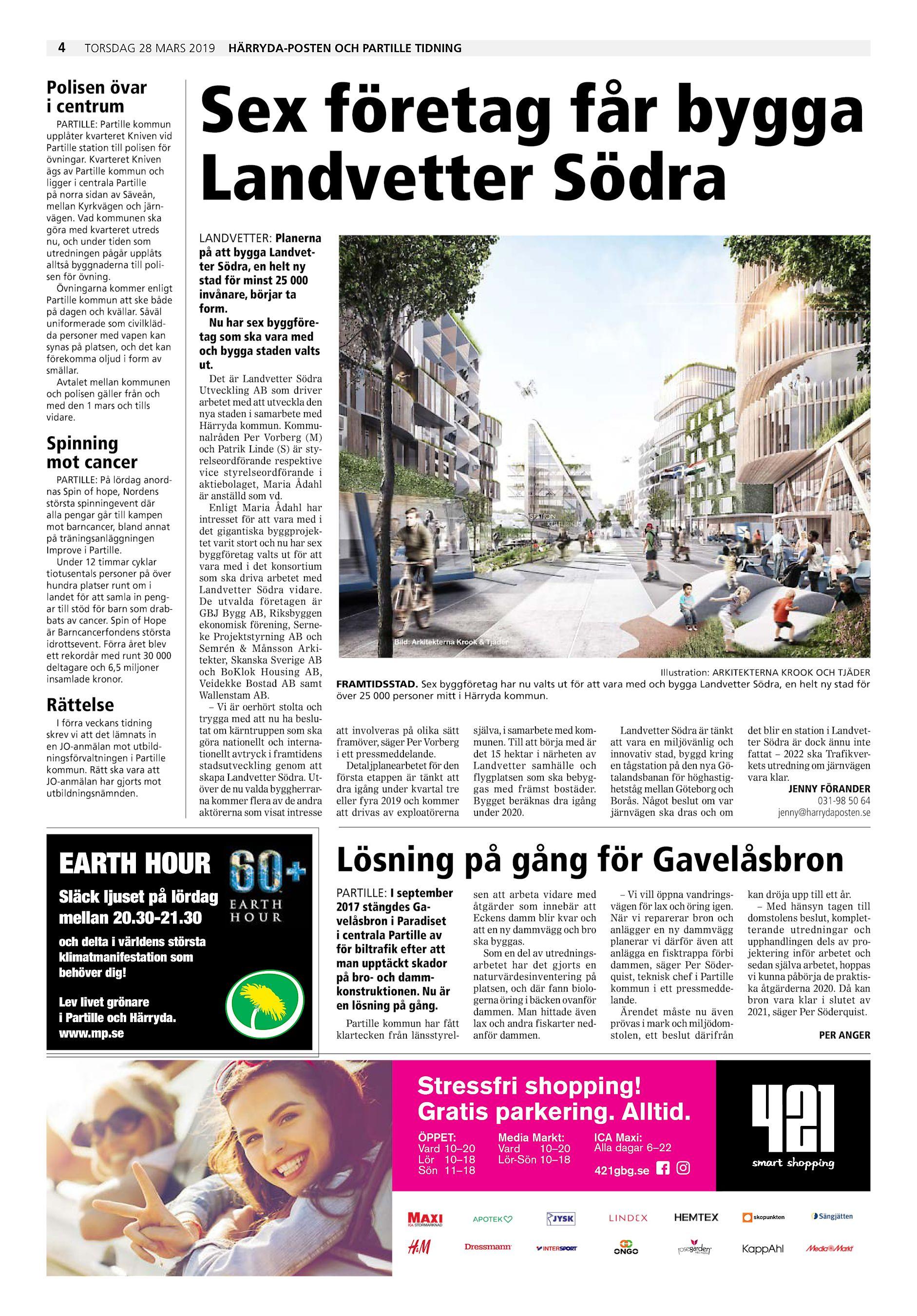 edf6a890601 4 torsdag 28 mars 2019 Polisen övar i centrum PARTILLE: Partille kommun  upplåter kvarteret Kniven vid Partille station till polisen för övningar.