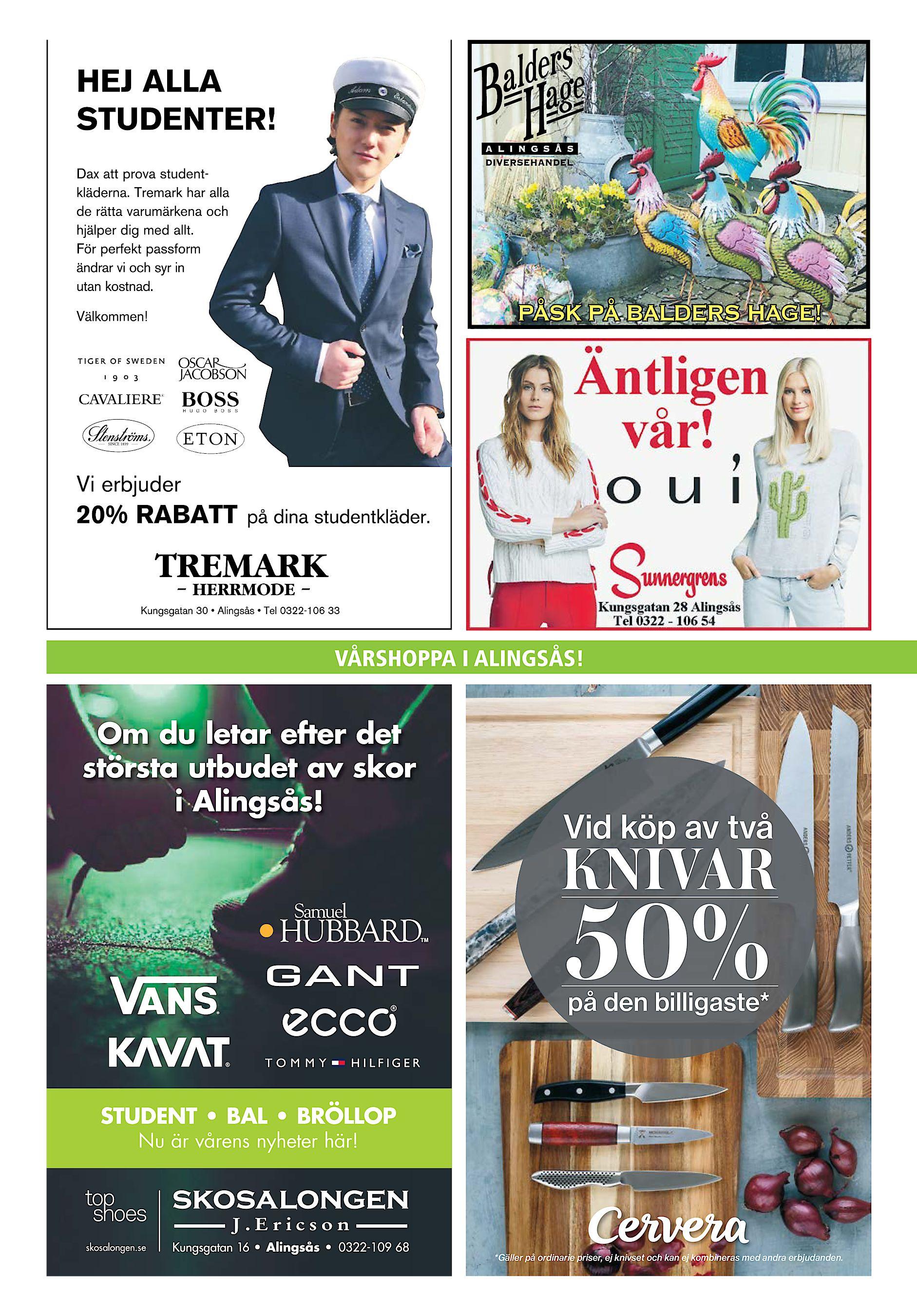 wholesale dealer 6a110 2b2ee 16 torsdag 28 mars 2019 Härryda-Posten och Partille Tidning PÅSK PÅ BALDERS  HAGE! Om du letar efter det största utbudet av skor i Alingsås!