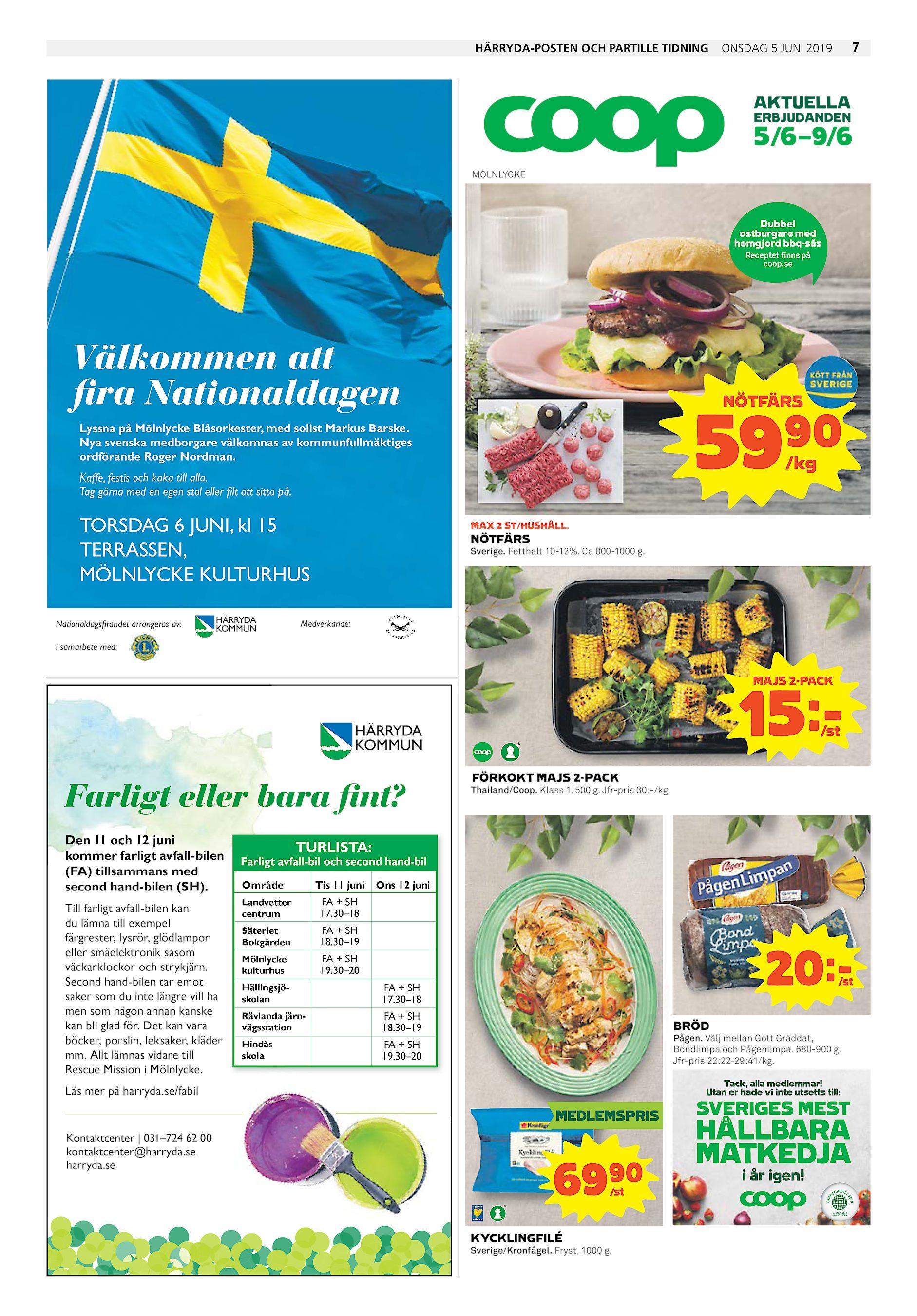 9e066da958be Härryda-Posten och Partille Tidning onsdag 5 juni 2019 7 AKTUELLA  ERBJUDANDEN 5/6–9/6 MÖLNLYCKE Dubbel ostburgare med hemgjord bbq-sås  Receptet finns på ...