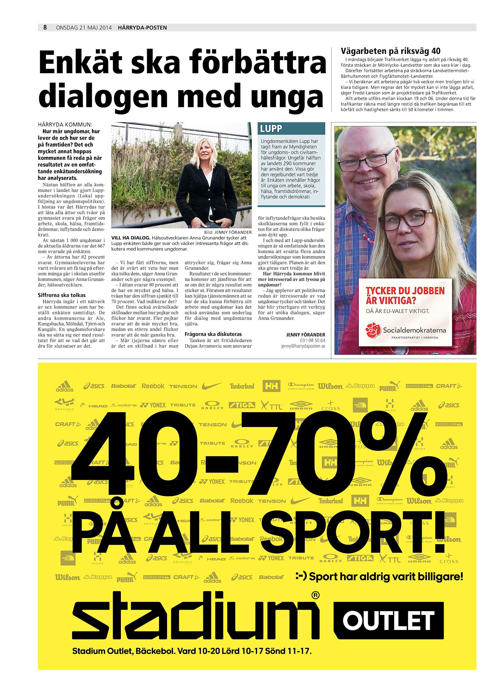 newest 4f453 120f8 8 onsdag 21 maj 2014 Härryda-Posten Enkät ska förbättra dialogen med unga  HÄRRYDA KOMMUN  Hur mår ungdomar, hur lever de och hur ser de på framtiden