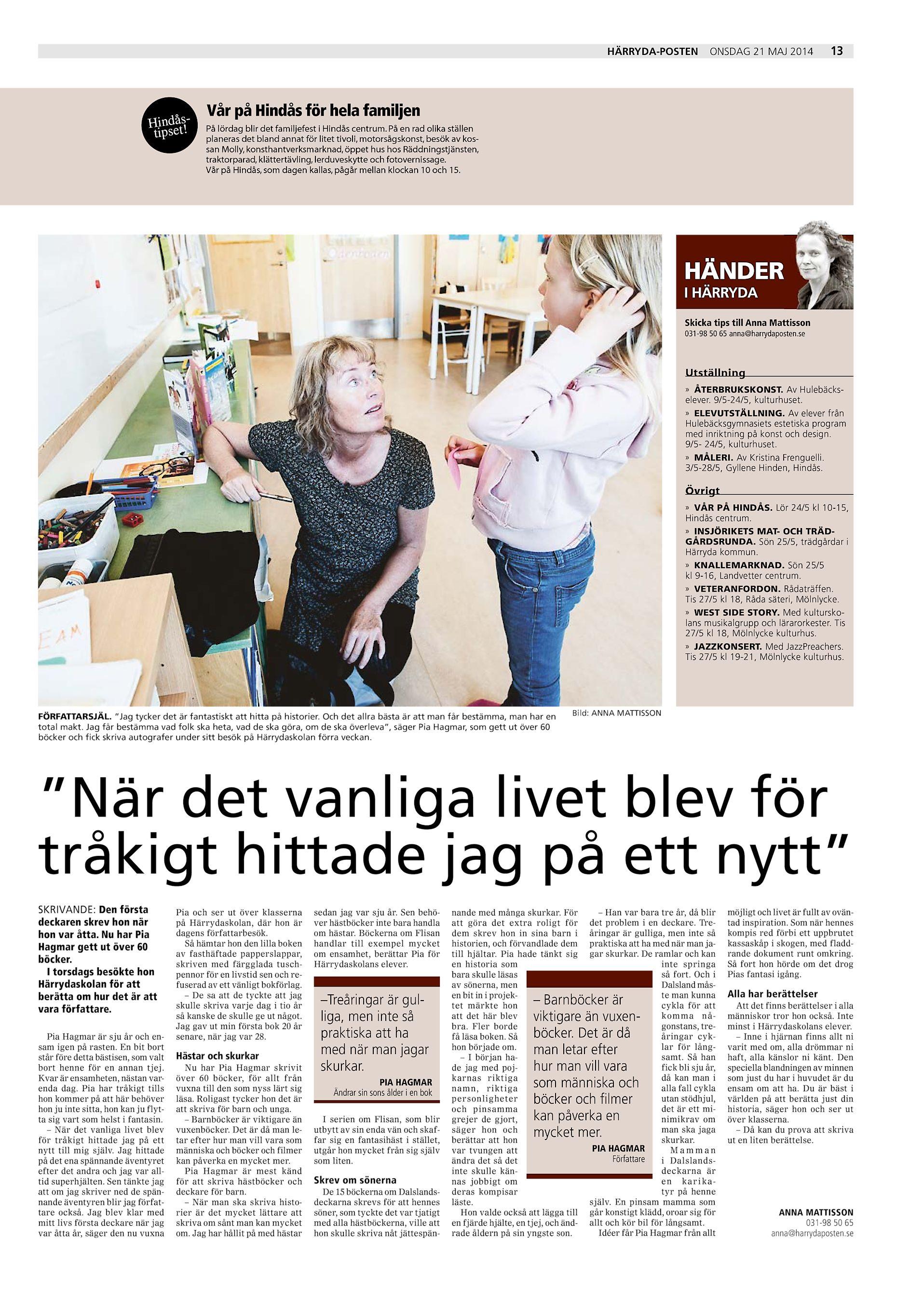 watch 2710c 96edf HÄRRYDA-POSTEN Hindåtstipse ! ONSDAG 21 MAJ 2014 13 Vår på Hindås för hela  familjen På lördag blir det familjefest i Hindås centrum.