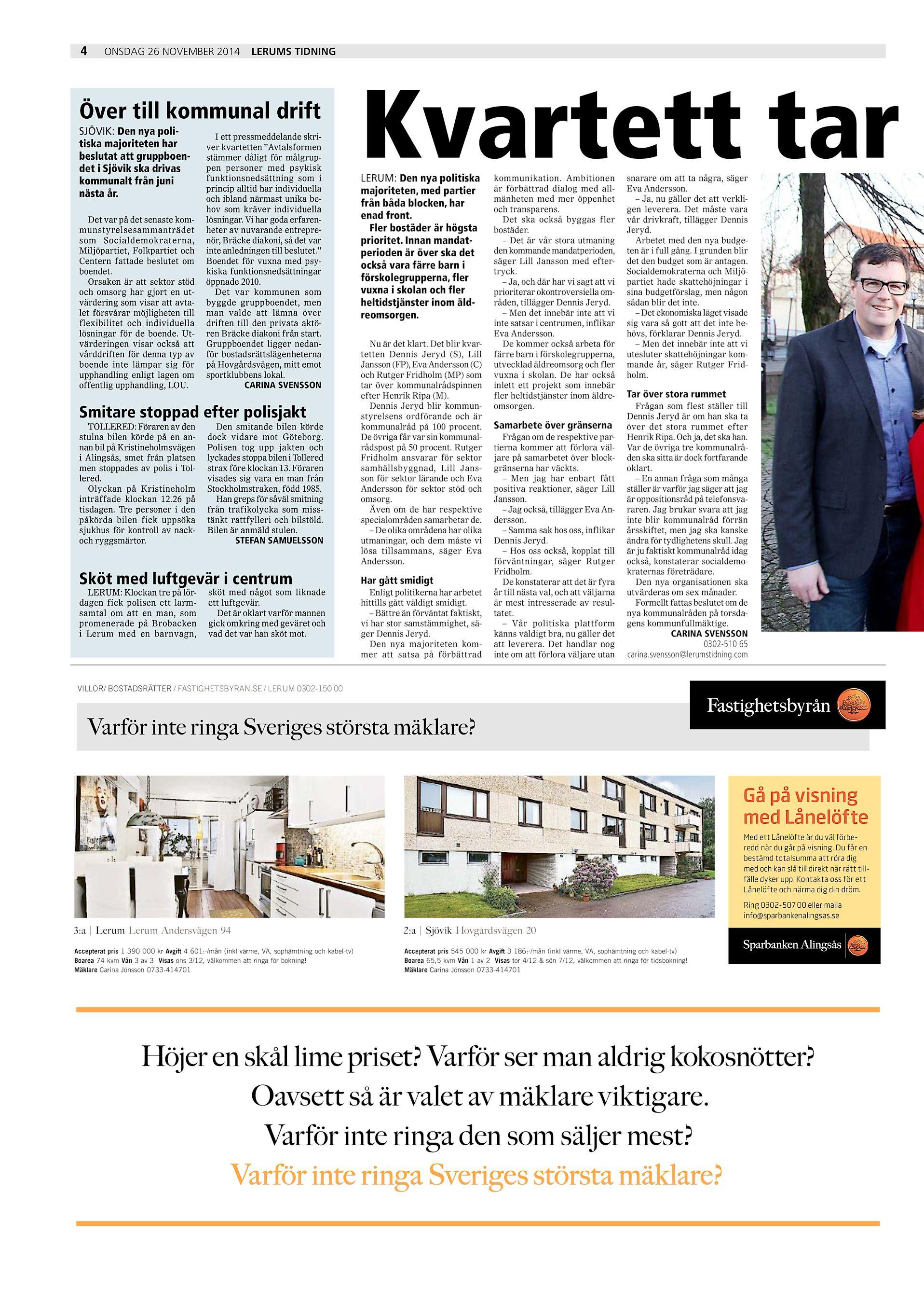51be2ef97102 ... Tidning Över till kommunal drift SJÖVIK: Den nya politiska majoriteten  har beslutat att gruppboendet i Sjövik ska drivas kommunalt från juni nästa  år.