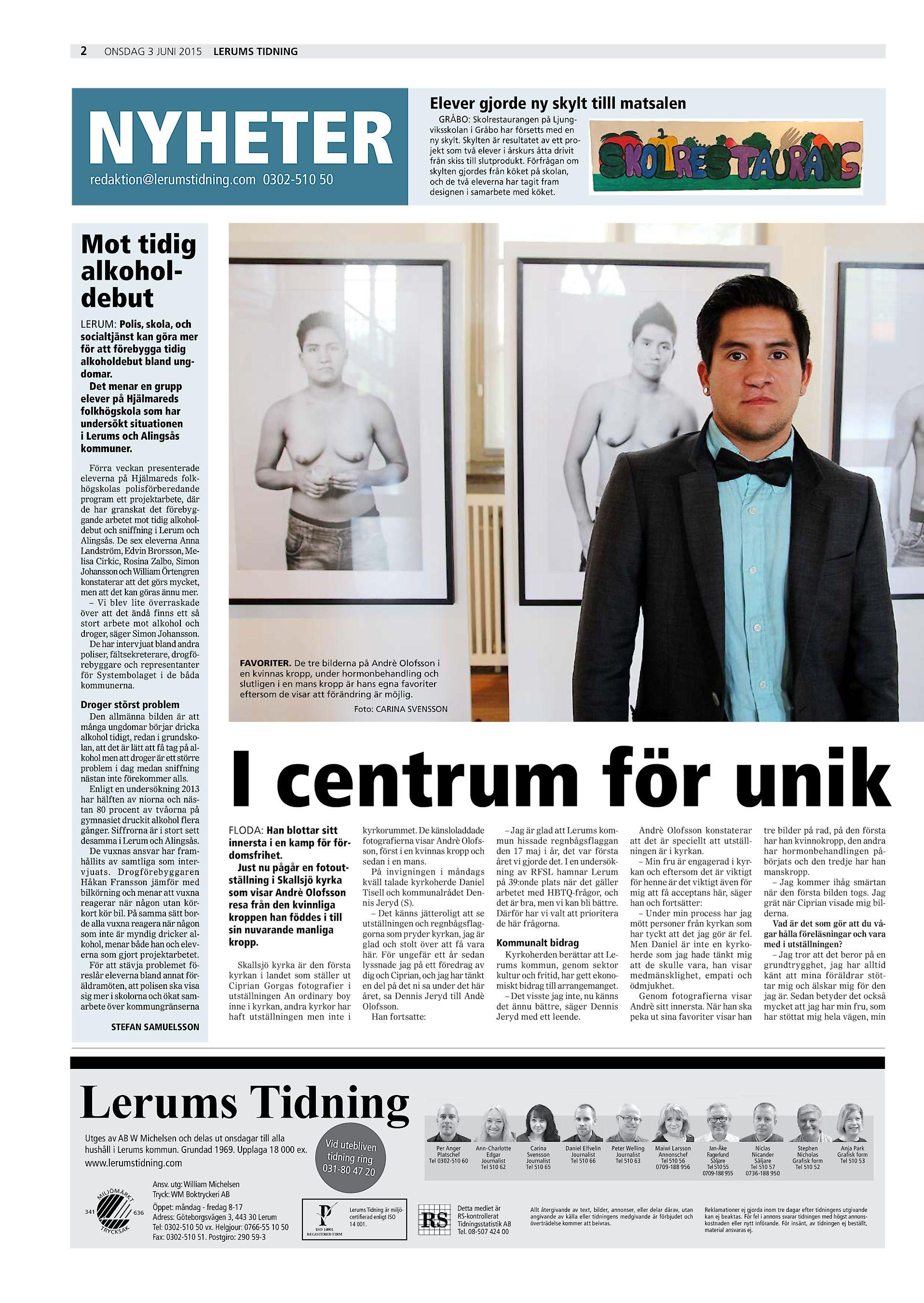 35da6603a374 ... redaktion@lerumstidning.com 0302-510 50 Elever gjorde ny skylt tilll  matsalen GRÅBO: Skolrestaurangen på Ljungviksskolan i Gråbo har försetts  med en ny ...