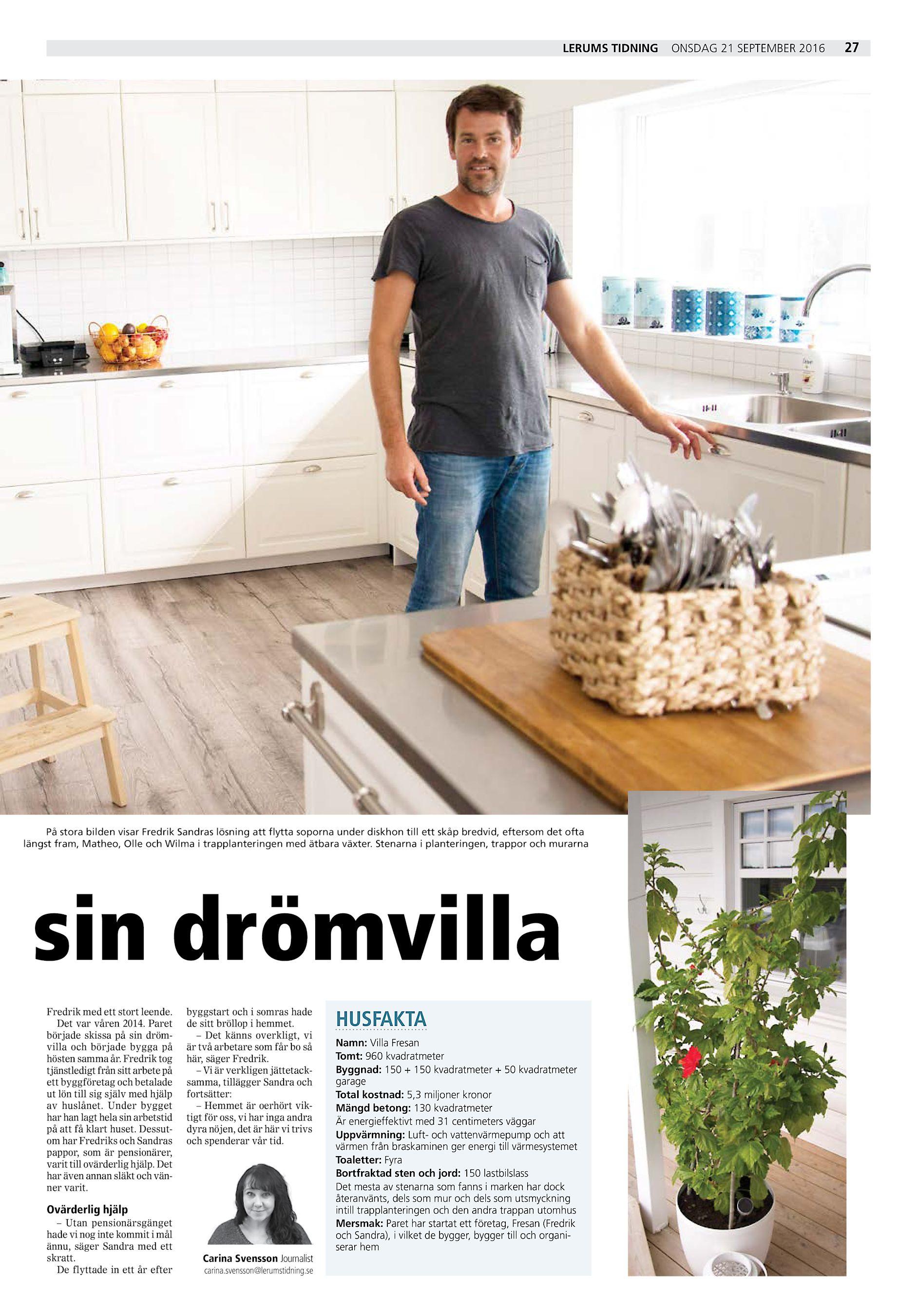 LERUMS TIDNING På stora bilden visar Fredrik Sandras lösning att flytta  soporna under diskhon till ett skåp bredvid 906153ae019de