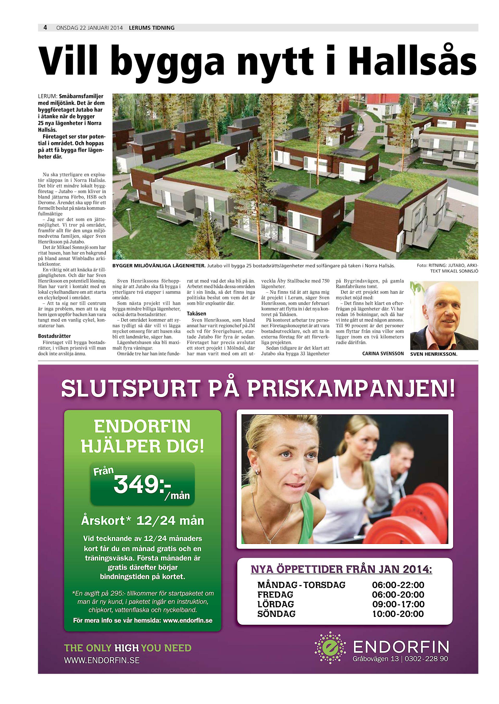 Det är dem byggföretaget Jutabo har i åtanke när de bygger 25 nya  lägenheter i Norra ... 71eaf74b8d4ca