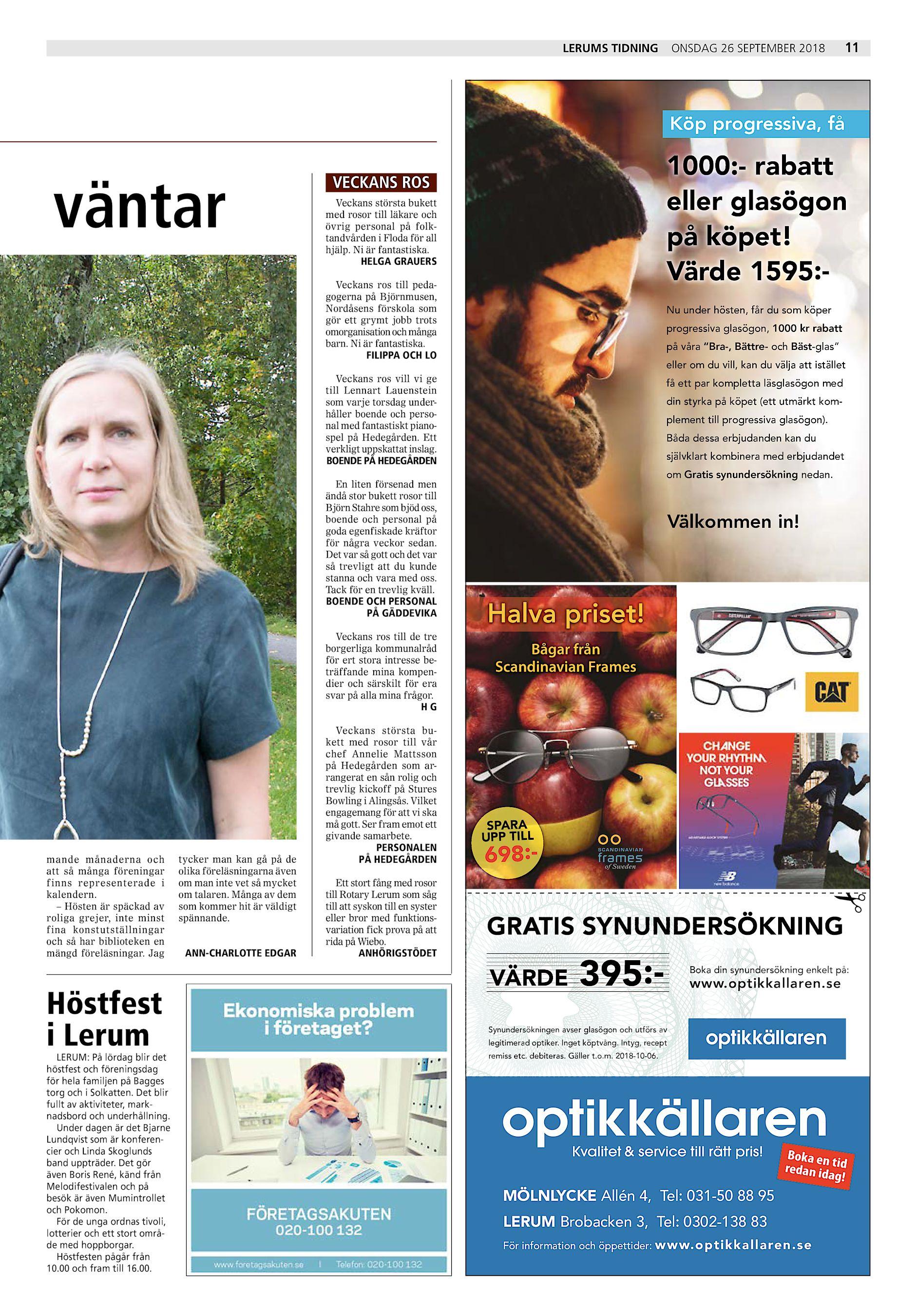 Lerums Tidning onsdag 26 september 2018 11 Köp progressiva 7444cfd480535