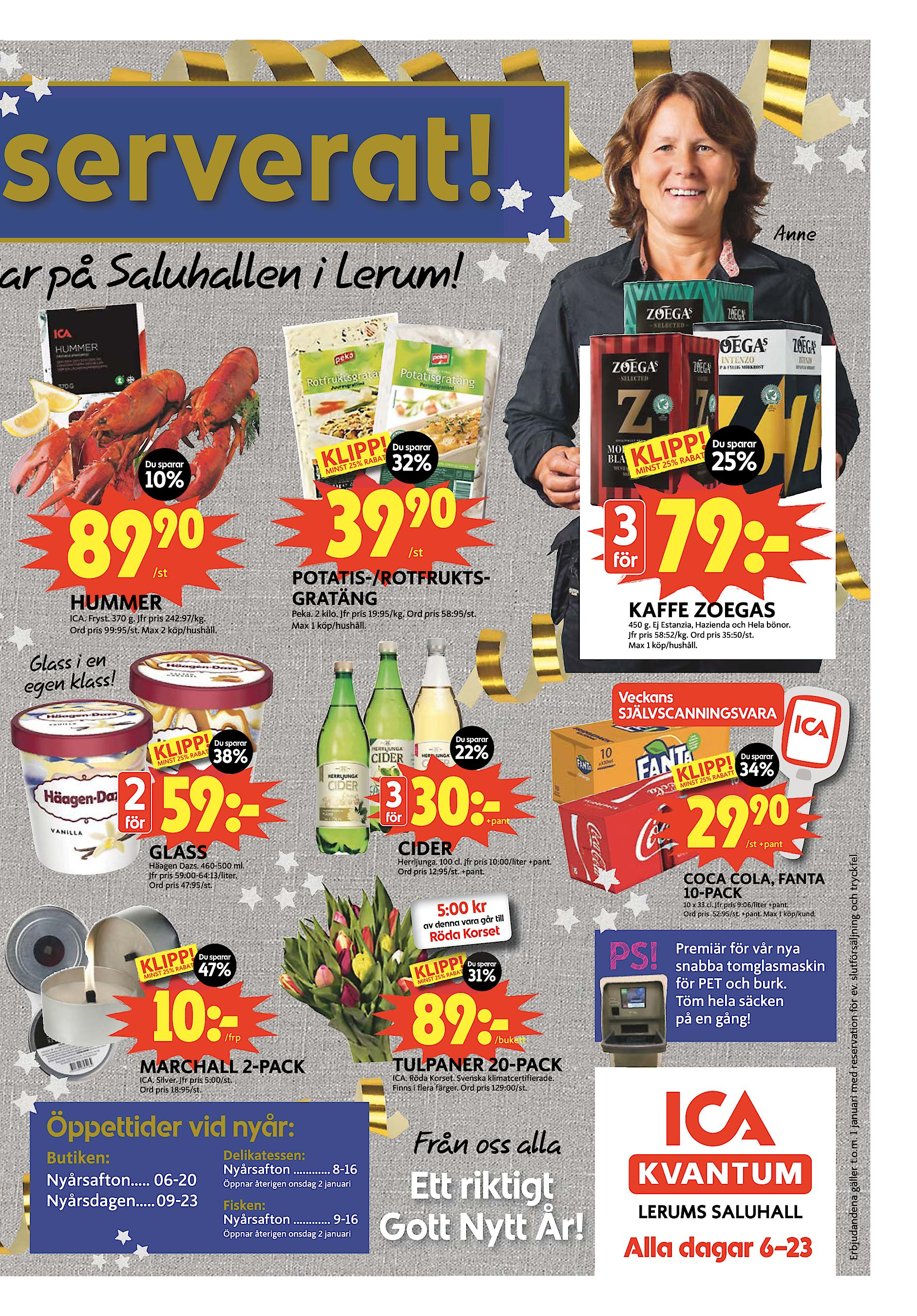Lerums Tidning fredag 28 december 2018 serverat! Anne jar på Saluhallen i  Lerum! Du sparar Du sparar 10% 89 25% 32% Du sparar 39 90 90  st 3  st för  ... b9009e0433d32