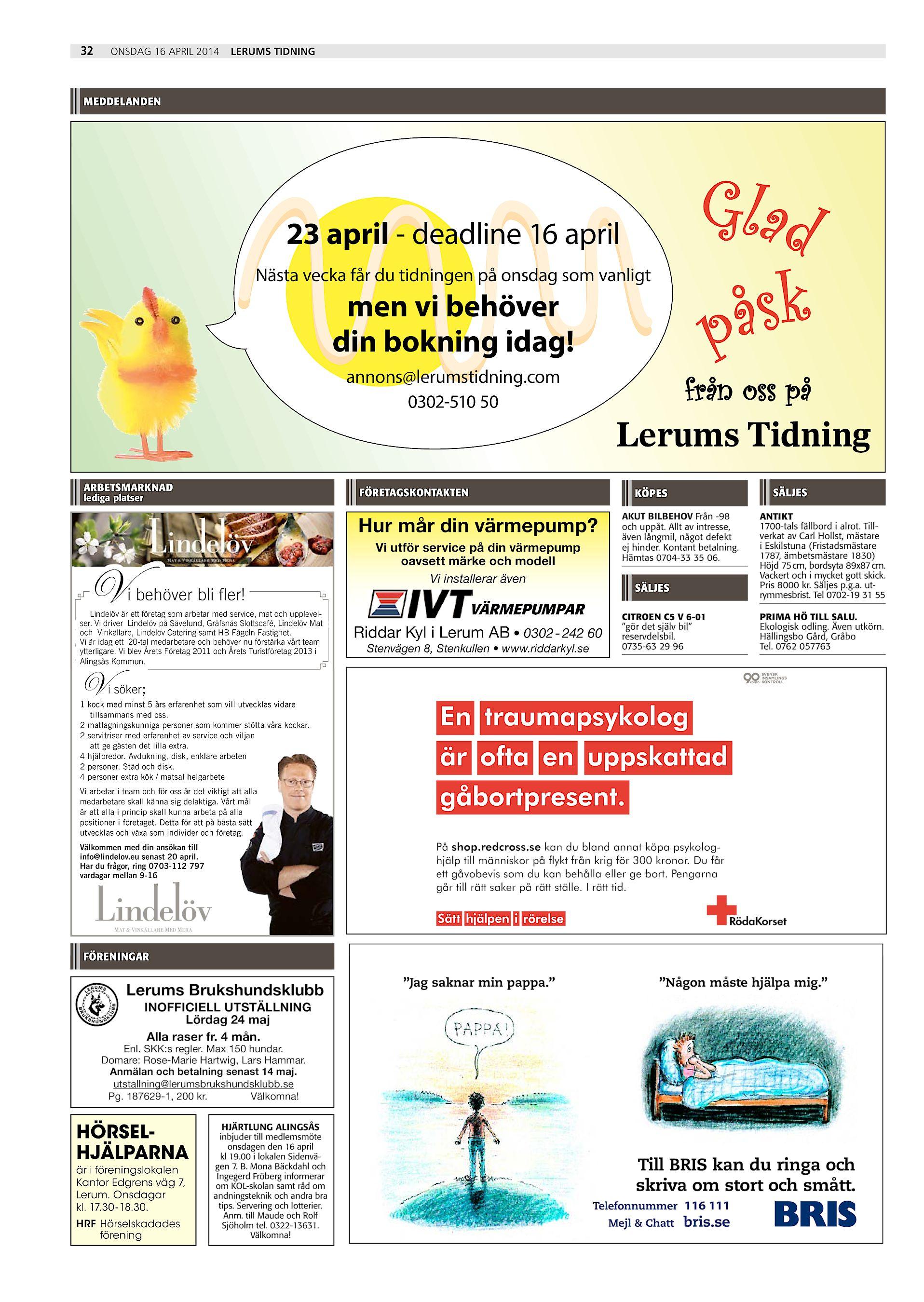 cheap for discount 9be9d 80b46 32 onsdag 16 april 2014 Lerums Tidning meddelanden Glad åsk p 23 april -  deadline 16 april Nästa vecka får du tidningen på onsdag som vanligt men vi  behöver ...