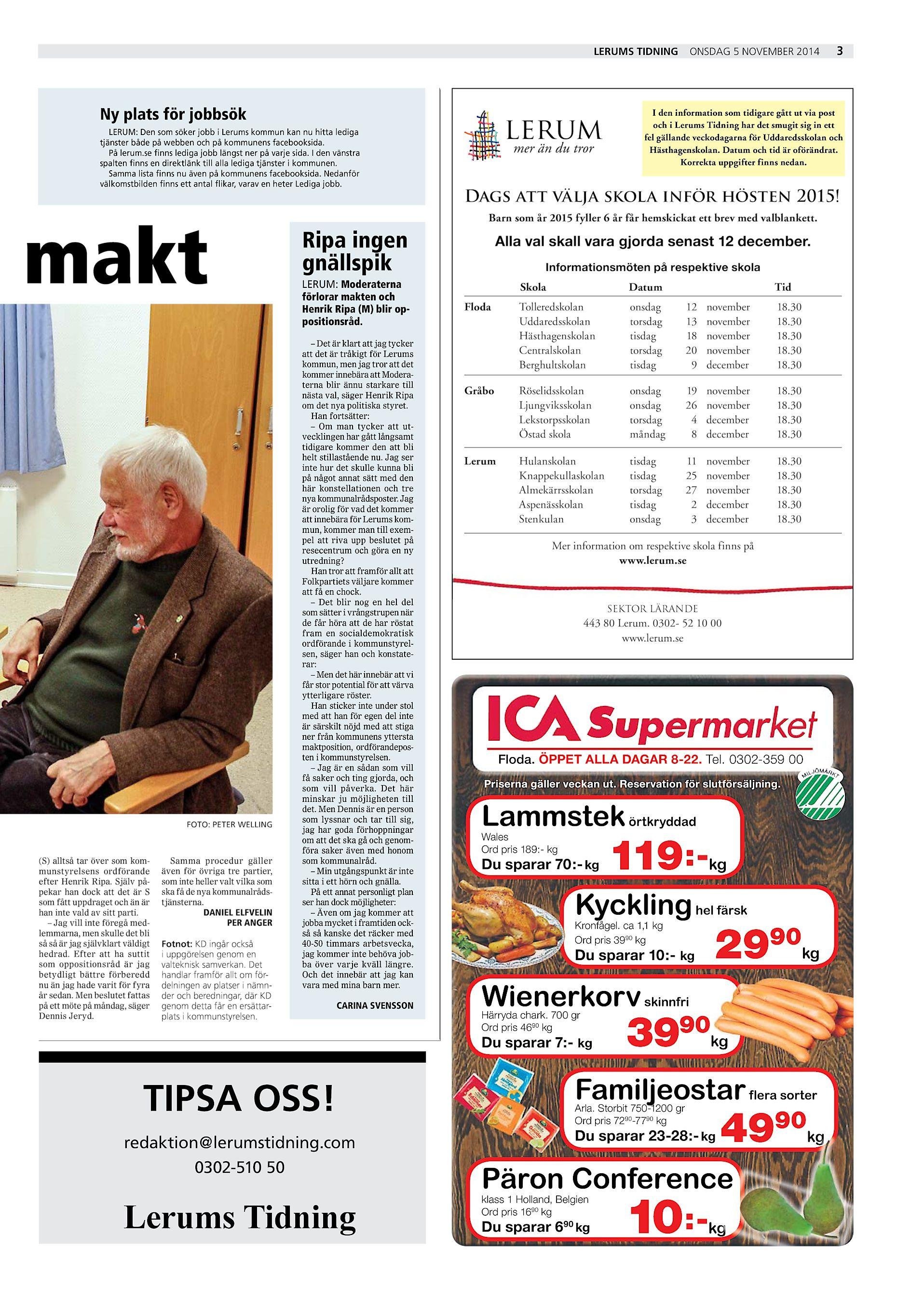Lerums Tidning Ny plats för jobbsök LERUM  Den som söker jobb i Lerums  kommun kan nu hitta lediga tjänster både på webben och på kommunens  facebooksida. 59efd71fd1881