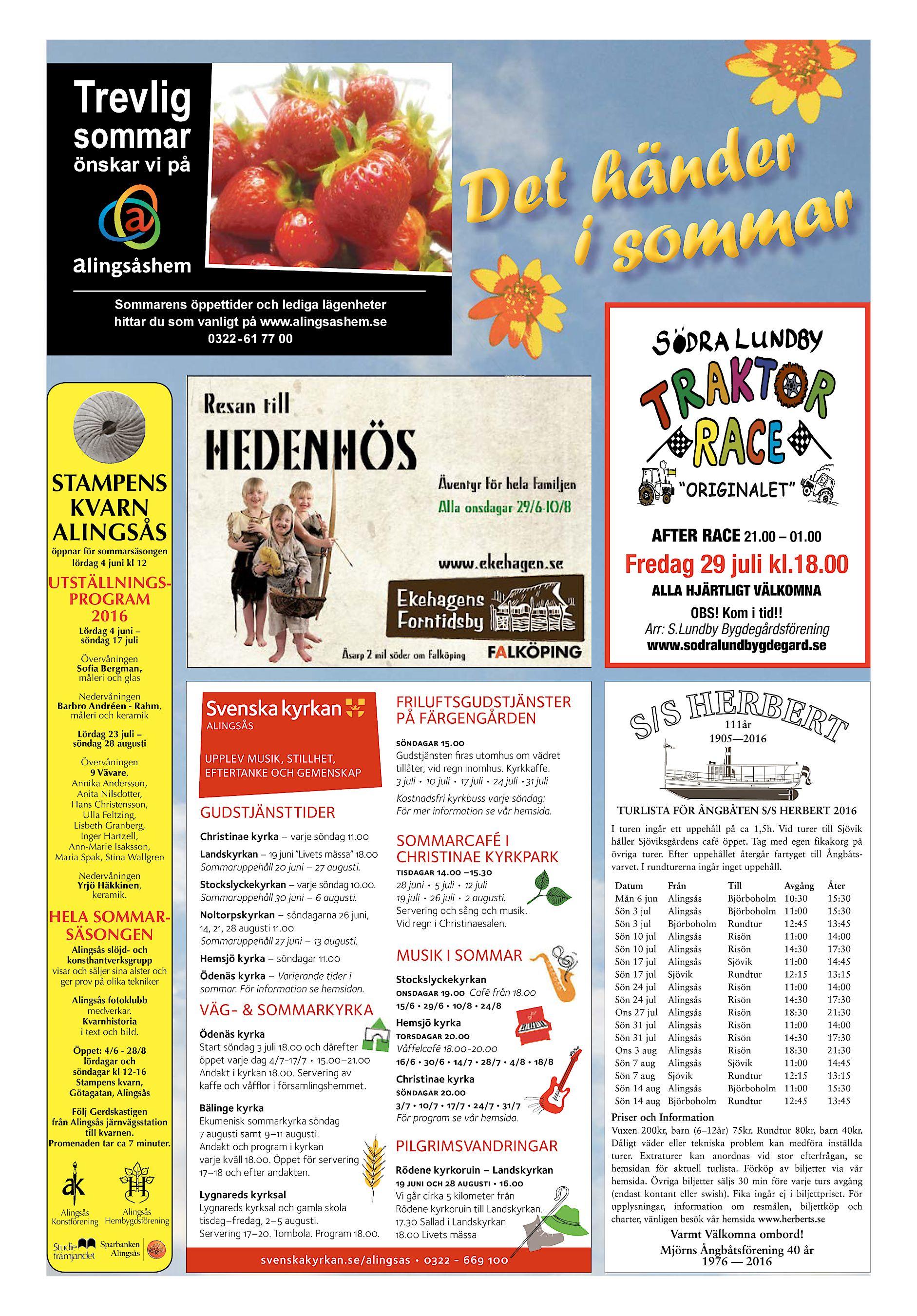 2e6989e864f2 Alingsås Tidning (Frinummer) Hej Sommar 2016 (endast text)